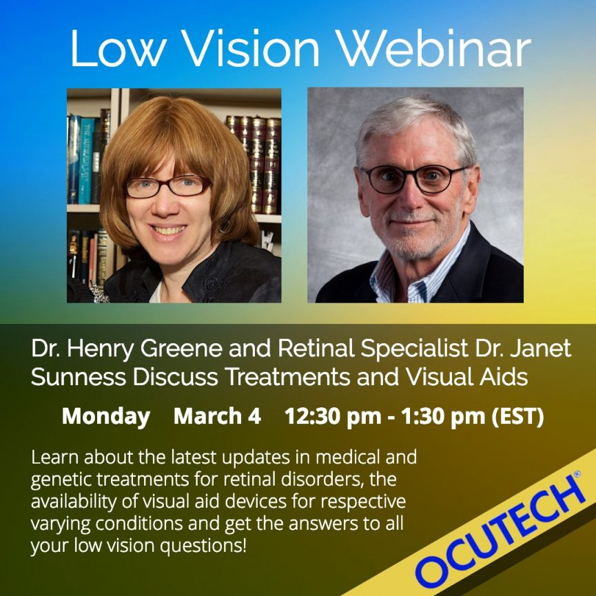 Image of Dr. Janet Sunness and Dr. Henry Greene with Title of Webinar